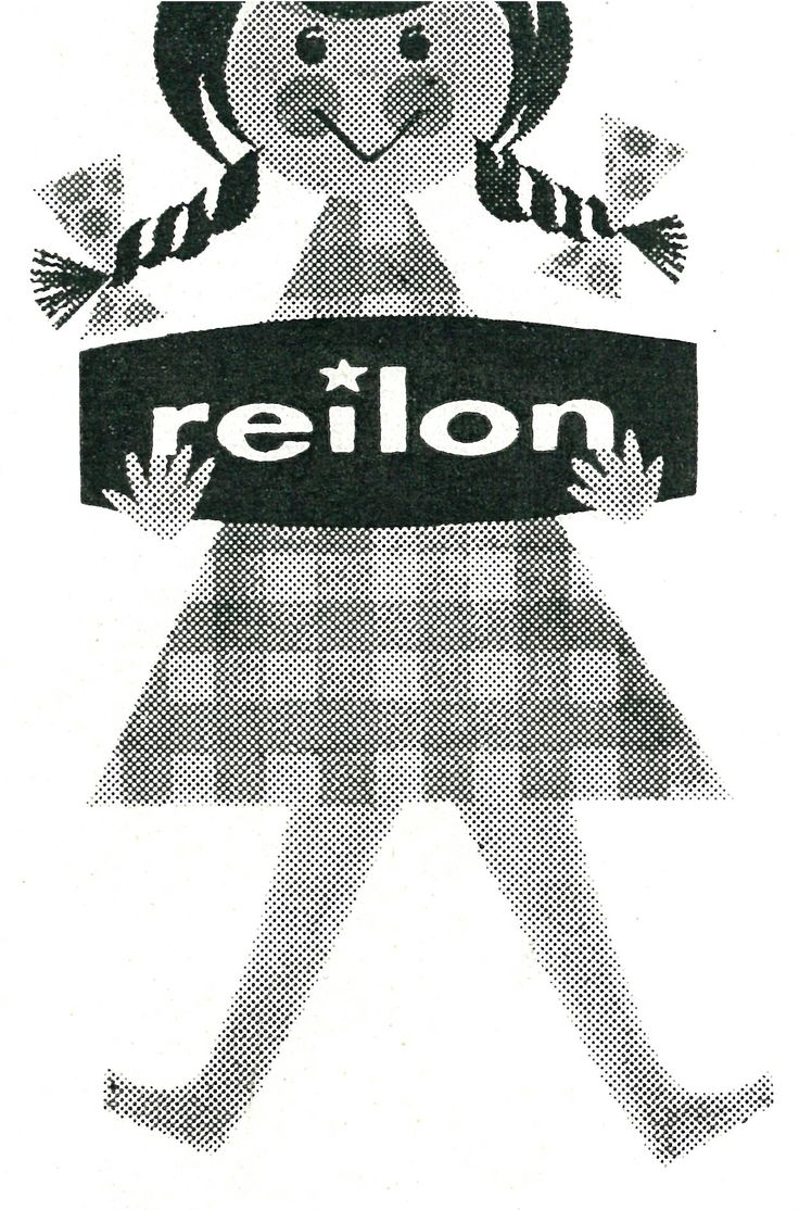 Reilon logo. Reilon was a strong and durable material used in 1950´s and 1960´s. #Reima70