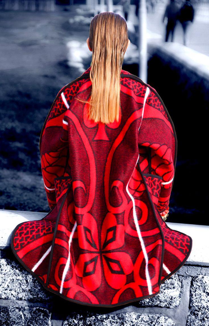 WEISS CapeTown             blanket coat back  www.weissdesignstudio.co.za