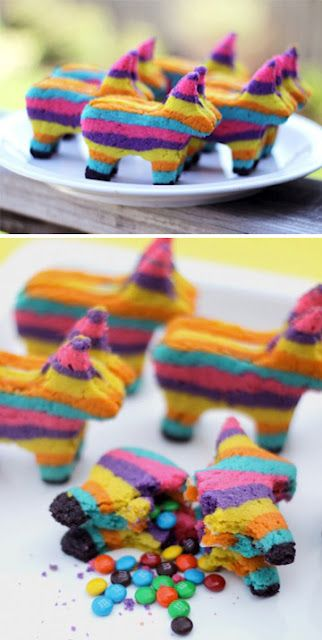 Cute mexican party idea.  Cookie pinatas.  I am so doing this for Cinco de Mayo, when I learn how to do it...