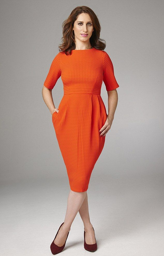 Looks expensive: Red textured dress, £45, asos.com, shoes, £19.99, newlook.com...