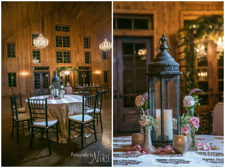 PhotographyByNiki The Carriage House Wedding Venue Conroe Texas Beautiful Lantern Table Decor
