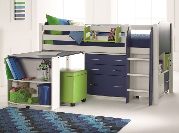 Mid sleeper for El's bedroom but with lilac coloring instead of navy blue.