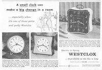 Westclox La Sallita Spring Alarm 1956 Ad Picture