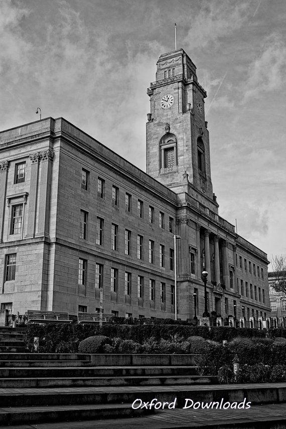 Barnsley Town Hall Yorkshire Prints Digital by OxfordDownloads