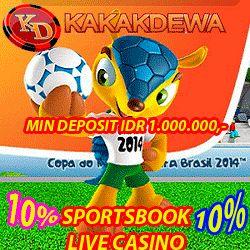 Syarat dan ketentuan yang berlaku : 1. Minimal deposit adalah Rp 1.000.000,- 2. Max Bonus sebesar Rp 10.000.000,- per member 3. Bonus ini berlaku untuk Semua Produk Sportsbook dan Live Casino.