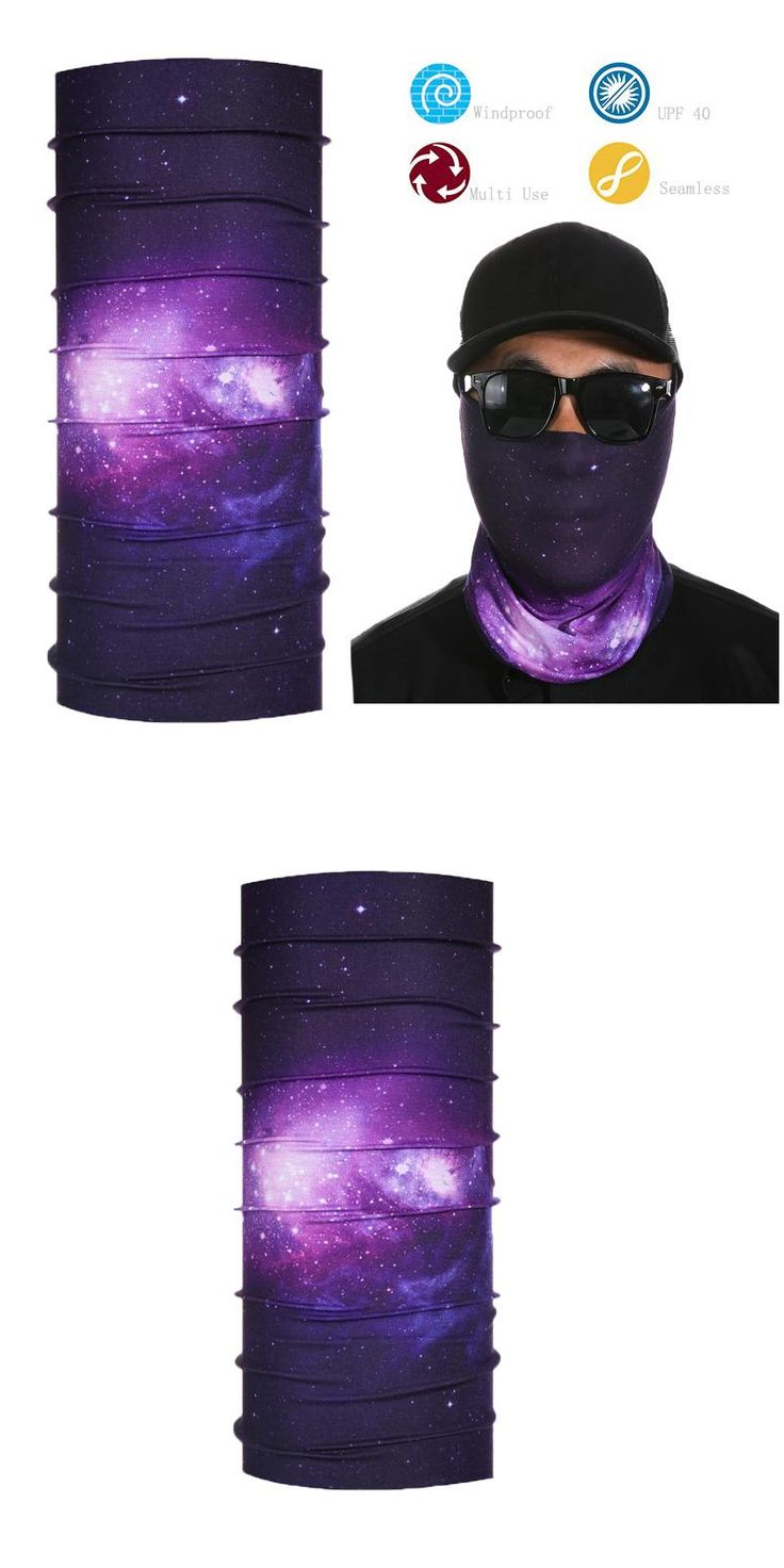 Multi Head Bandana Outdoor Sports Seamless Neck Gaiter Multifunction Tube Face shield scarf