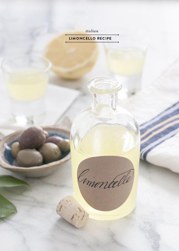 Ciao Bella! Italian Limoncello Recipe - Earnest Home co.
