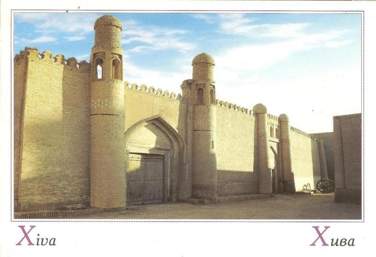 PK0731. Xiva (Khiva). Taschkent. Uzbekistan. Khiva is a city of approximately 50,000 people located in Xorazm Province, Uzbekistan. It is the former capital of Khwarezmia and the Khanate of Khiva. Itchan Kala in Khiva was the first site in Uzbekistan to be inscribed in the UNESCO World Heritage List (1991).