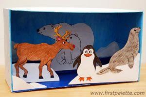 Habitat Diorama craft - Jungle animals, Polar animas, Safari animals, or Sea animals