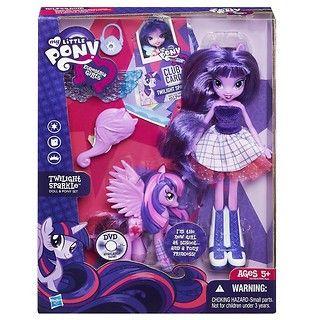 """Twilight Sparkle jest jedną z 6 przyjaciółek z serii Equestria Girls. Lalka to wspaniały prezent dla małych wielbicielek """"My Little Pony"""". #Hasbro #dzieci #prezenty"""