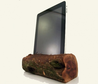 Sierra Red Wood iPad Dock