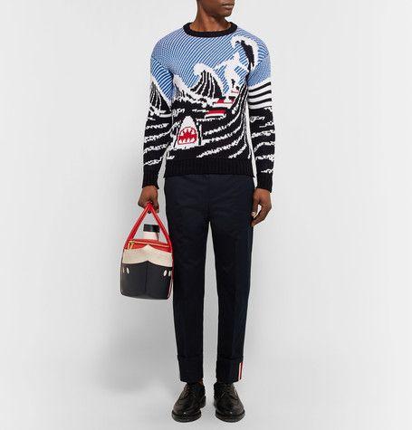 Thom Browne | Jacquard-Knit Cotton Sweater