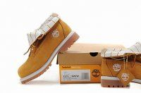 Cheap Timberland Women Roll Top Boots Wheat and White