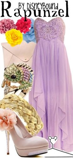 Rapunzel by Disney Bound. Fashion Disney Outfit.Tangled. Love the dress, and the ring
