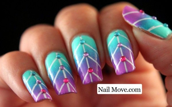 Gradient Nail Art Tutorial 2014