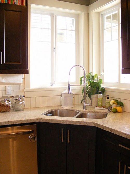 55 best images about corner kitchen windows on pinterest - Corner windows in kitchen ...