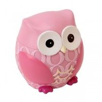 Children's Money Box - Pink Owl - Available now on Becky and Lolo