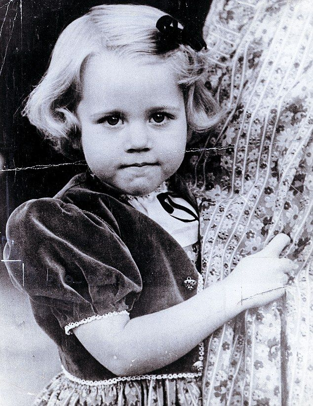 Jane, pictured here as a child, says she couldn't be paid enough to be young again