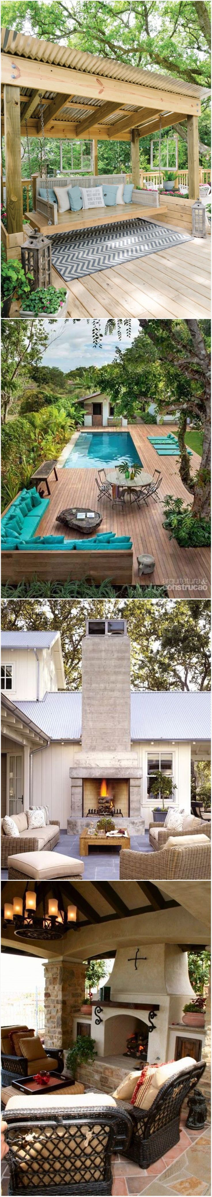 Exceptional outdoor living rooms and spaces with gorgeous landscaping. This is a gorgeous and inspiring gallery full of outdoor space designs. Must see! Read it
