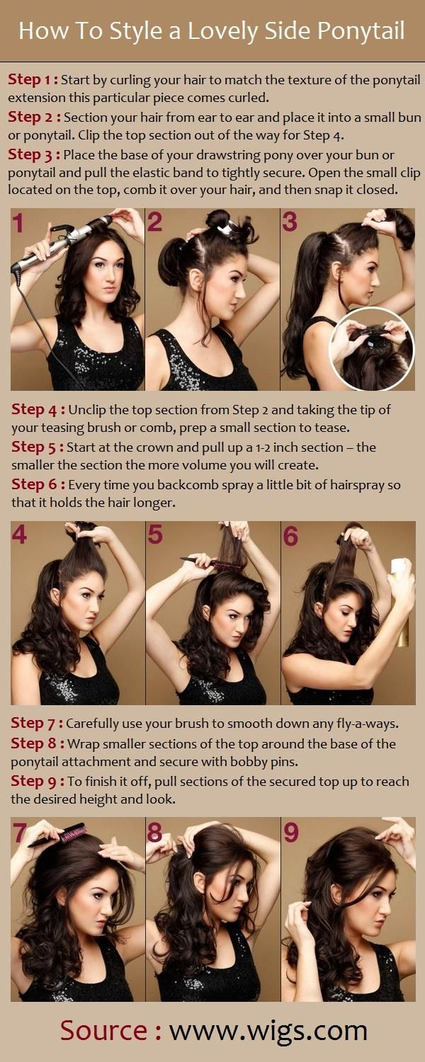 How To Style a Lovely Side Ponytail Via LongHairStyleShowTo.Com