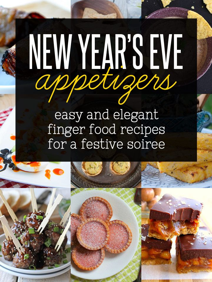 A New Year's Eve party calls for great food. This roundup of 29 savory appetizers will have guests raving all night long. With so many finger-licking choices it may be hard to narrow down the menu.