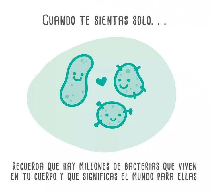 Millones de bacterias viven en tu cuerpo. #humor #risa #graciosas #chistosas #divertidas