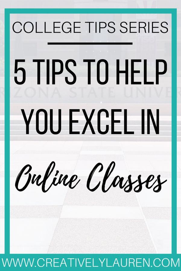 Creatively Lauren: Five Tips to Help You Excel in Online Classes