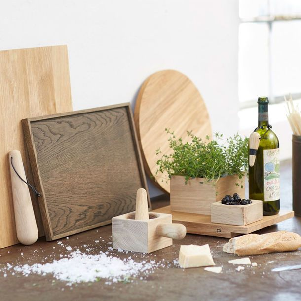 The Oak Men Large Chopping Board - a timeless and hard-wearing serving or chopping board made from solid natural oak.