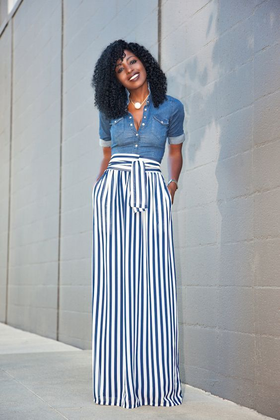 button down and palazzo pants