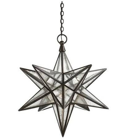 Visual Comfort Moravian Star Light With Antique Mirror