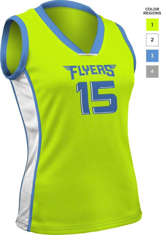 828-Sleeveless Overlay Volleyball Jersey