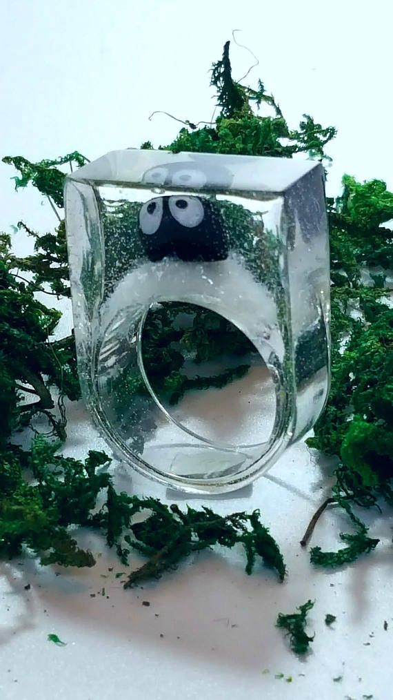 Resin Ring, Miniature Terrarium  Fast and free shipping to the US and Canada!