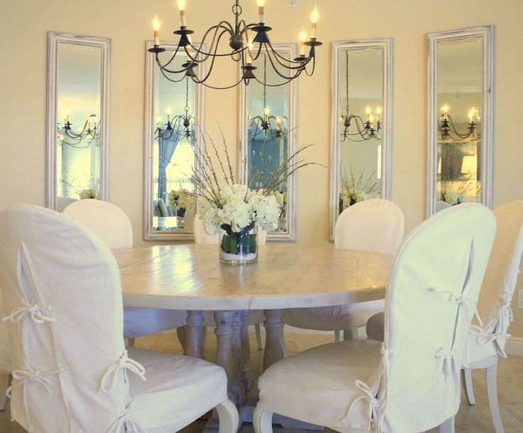 Dining Room With Iron Chandelier And Framed Wall Mirrors Beautiful Dining Room Wall Decor Check more at http://www.wearefound.com/beautiful-dining-room-wall-decor/