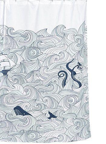 Deep Sea Odyssey Shower Curtain at PLASTICLAND