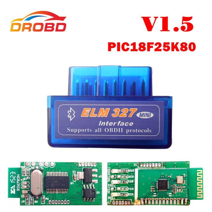 Diagnostic-Tool Code Reader ELM327 V1.5 Mini ELM 327 V1.5 With PIC18F25K80 Chip Mini ELM327 V 1.5 Bluetooth OBD2 Scanner  Price: 7.63 USD