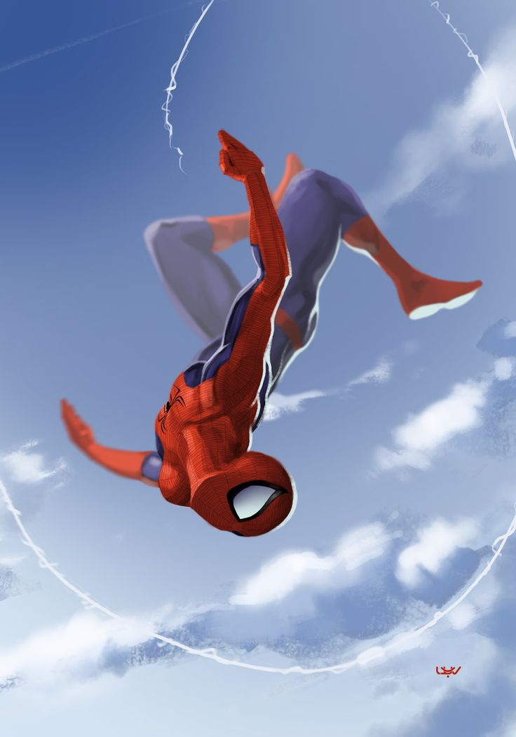 I really like how the artist captures Spidey's grace in movement. Spider-Man by…