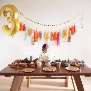POW-WOW BIRTHDAY PARTY バースデーパーティー事例 Tokyo Flamingo 誕生日 birthday 3歳 男の子 女の子 ARCH DAYS