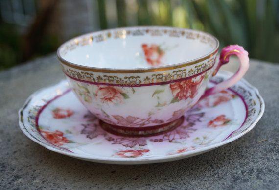 Rare Wheelock tea cup  Imperial Bavaria tea cup  by SumertaDesigns
