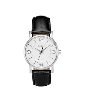 Black Croc Embossed Leather Strap Watch by DKNY: Budget, Fashion Shoes, Jewelry, Beauty, Dkny Watches, Accessories, Leather Strap Watch, Stylish Watches