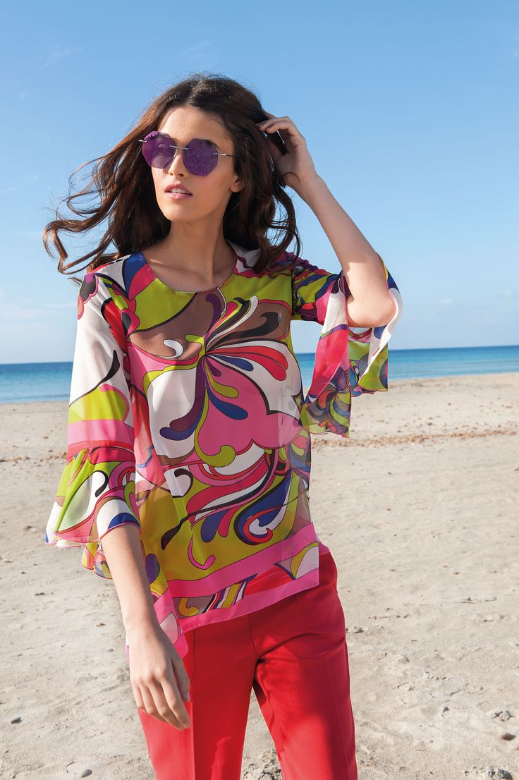 NARACAMICIE blouse with summer colours