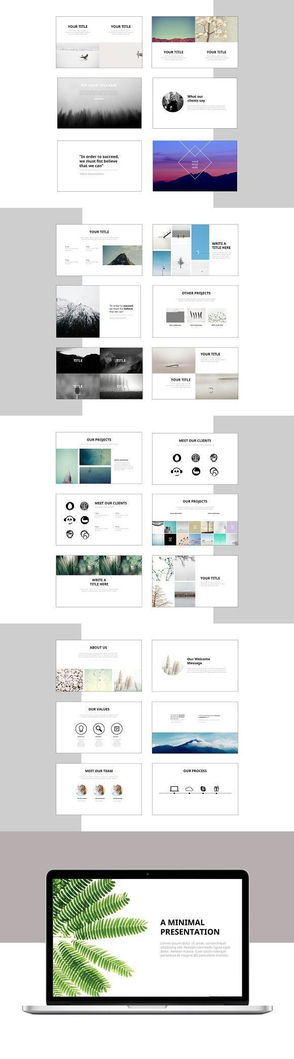 minimal business powerpoint template  powerpoint templates