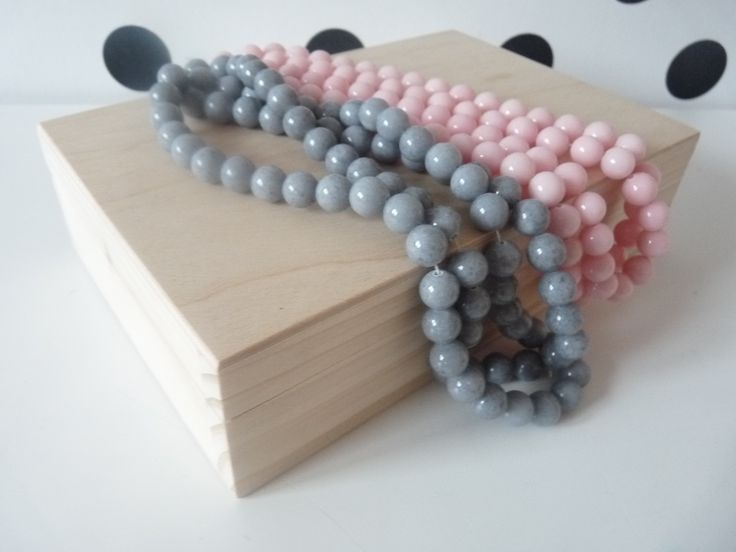 Grey jadeite stone beads, gemstone bracelet beads set - feel free to visit our nkcraftstudio shop on Etsy.com