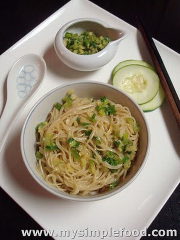 Ginger Scallion Noodles | Easy to do Recipes | Pinterest
