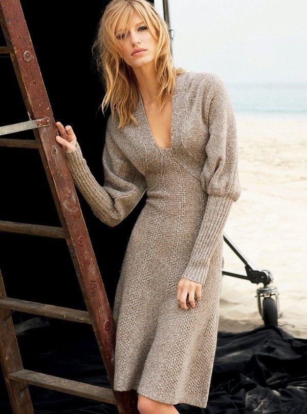 Neutral Sweater dress.
