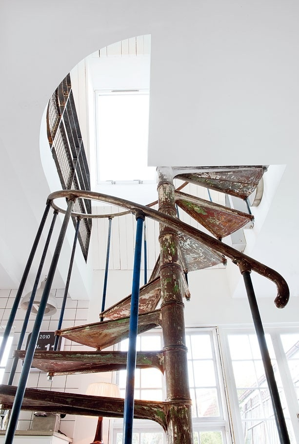 I've always wanted a spiral staircase!  How could would it be to lead up to a play room!