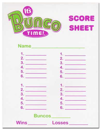 Lucrative image in cute bunco score sheets printable