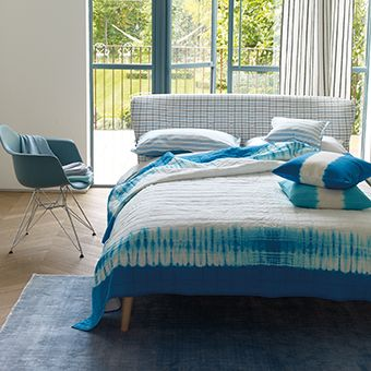 Savine Cobalt - Sensation Tie Dye Quilt | Designers Guild UK