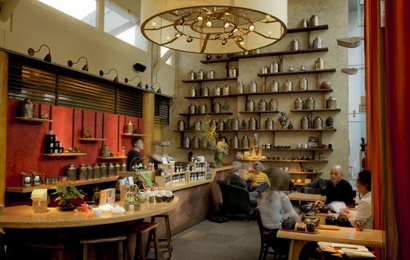 Samovar is spendy but has some excellent teas and snacks, in an artsy, genteel setting.