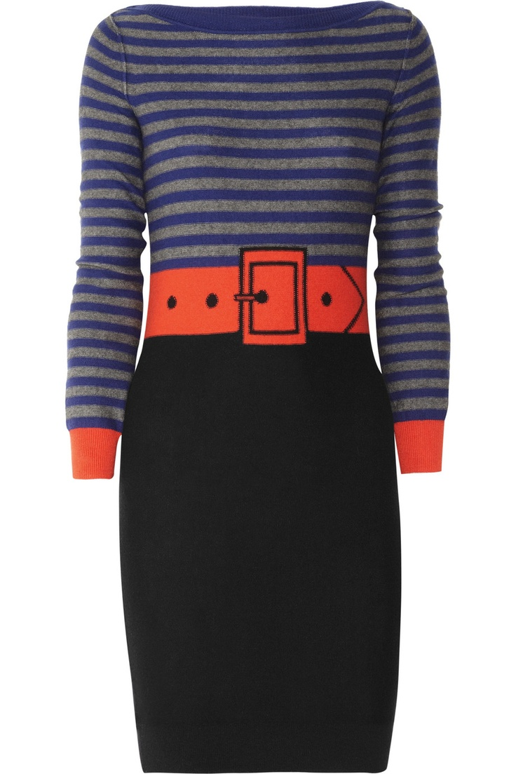 Sonia by Sonia Rykiel-Trompe l'oeil cotton and cashmere-blend dress
