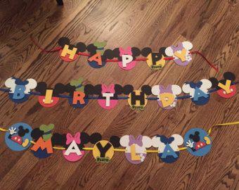 Banner de cumpleaños de Mickey mouse por sparklepaperscissors